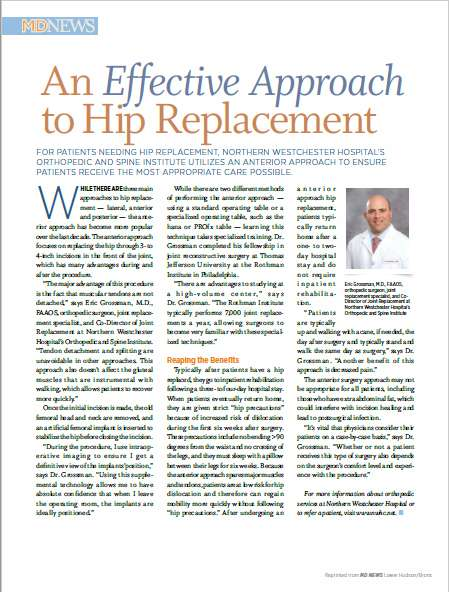 An Effective Approach to Hip Replacement